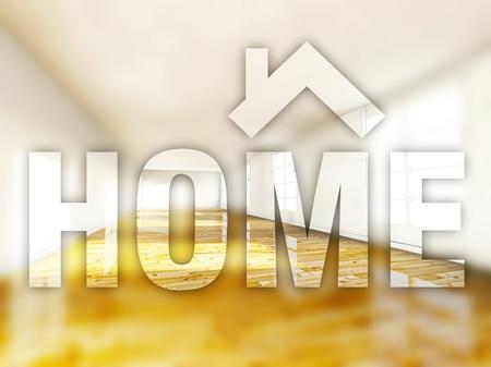 Home interior creative conceptual illustration illustration