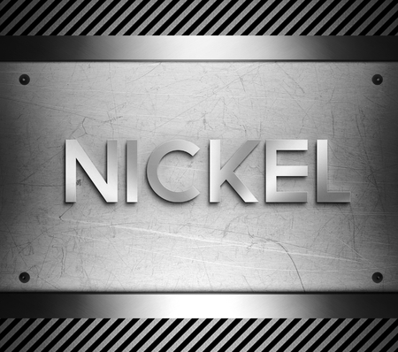 Nickel concept on steel plate background