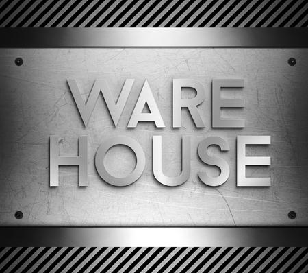 piastra acciaio: Concetto di Warehouse su acciaio piatto sfondo Archivio Fotografico