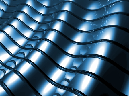 Blue metal abstract background architectural wallpaper Stock Photo