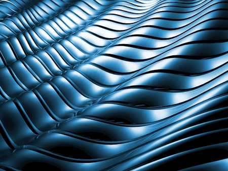decorration: Blue metal abstract background architectural wallpaper Stock Photo