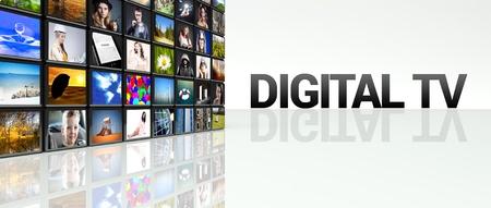 Digital TV technology video wall, LCD panels