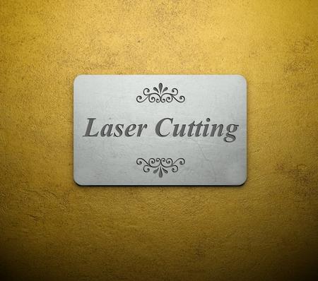 laser cutting: Engraving laser cutting on metal plate texture