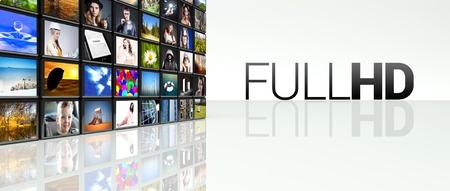 Full hd technology video wall, LCD TV panels photo
