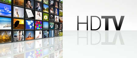 hdtv: Hdtv technology video wall, LCD TV panels
