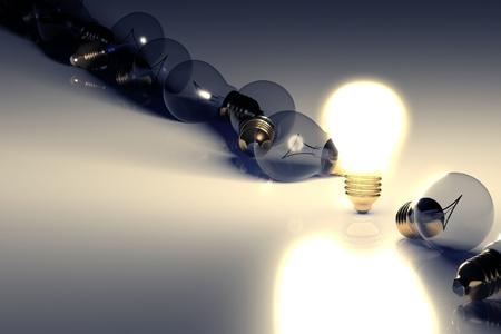 Idea light bulb concept with copyspace photo