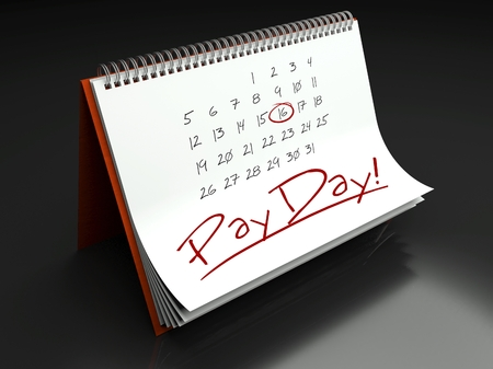 Pay day important calendar concept photo