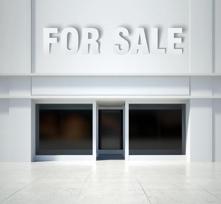shopfront: Shopfront window for sale, modern building front view