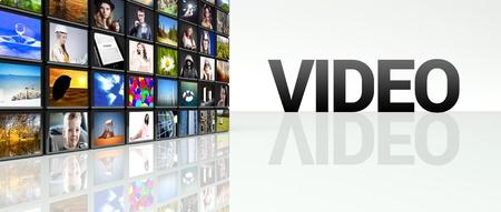 Television video wall, LCD TV panels