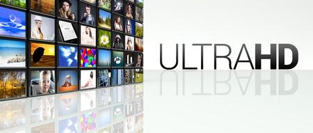 Ultra HD technology video wall, LCD TV panels