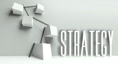 Business strategy metaphor, conceptual illustration