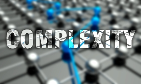 complexity: Complexity concept on network background