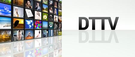 DTTV technology video wall, LCD TV panels