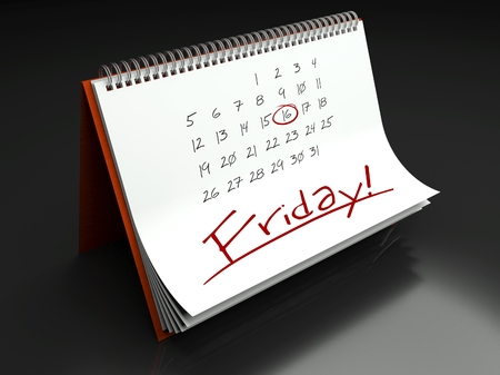 due date: Friday important day calendar concept Stock Photo