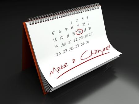 Make a change important day calendar concept photo