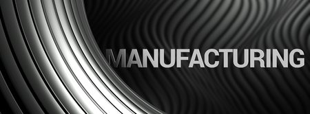 decorration: Manufacturing abstract background, industry metallic wallpaper Stock Photo