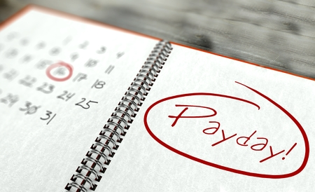 Pay day important calendar concept Stock Photo