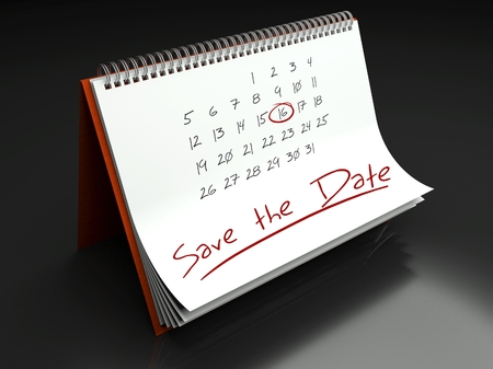 Save the date important day calendar concept photo