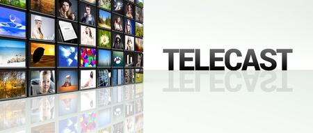 Telecast video wall, LCD TV panels