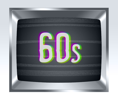 cathode: 60s on old tv screen with noise