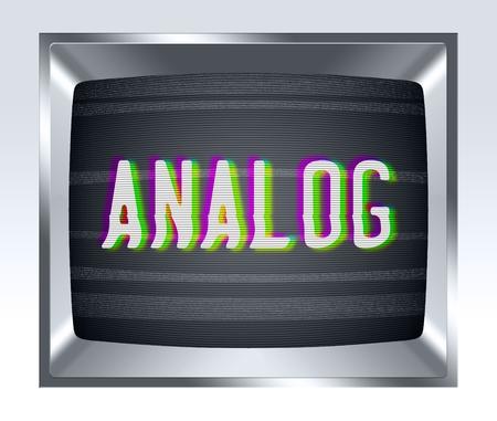 television antigua: Anal�gica en edad de pantalla tv con el ruido