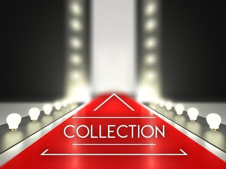 Laufsteg, Sammlung auf rotem Teppich Laufsteg Standard-Bild - 29343259