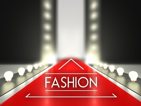 stage door: Fashion runway, red carpet catwalk
