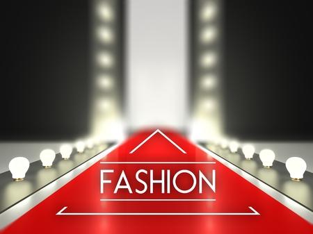 catwalk model: Fashion runway, red carpet catwalk