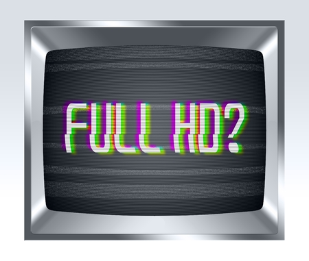 screen type: Full HD on old tv screen with noise