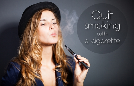Quit smoking with e-cigarette quote photo