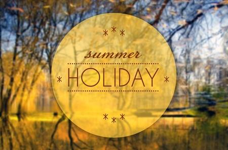 Summer holiday, Autumn creative conceptual illustration