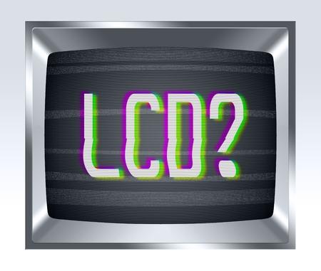 television antigua: LCD en la vieja pantalla de la TV con el ruido