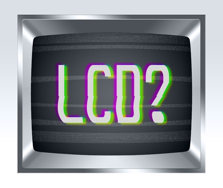 breakage: LCD on old tv screen with noise
