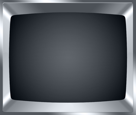 screen type: Retro old tv screen background with copyspace Stock Photo