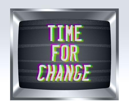 television antigua: Tiempo fo cambio en la vieja pantalla de la TV con el ruido