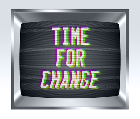 cathode ray tube: Time fo change on old tv screen with noise