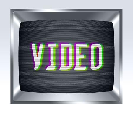 television antigua: Video en vieja pantalla de la TV con el ruido