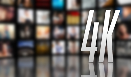 4K television concept, LCD screen panels