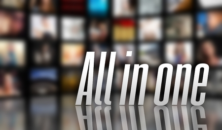 Alles in een apparaat-concept, een lcd-tv-panelen