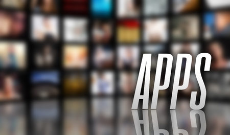 Apps television concept, LCD TV panels photo