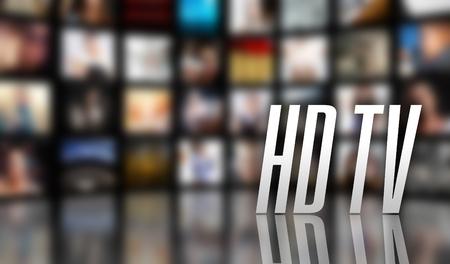 HD TV concept, LCD screen panels