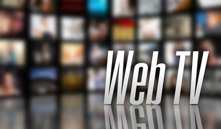 Web TV television concept, LCD screen panels Stock Photo - 29732761