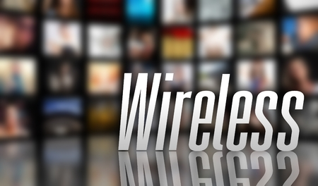 Wireless television concept, LCD TV panels Stock Photo - 29732764