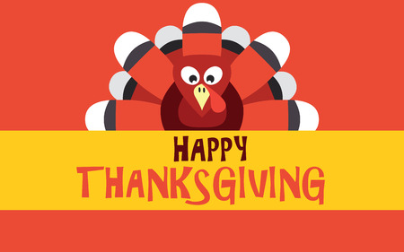 happy thanksgiving: Happy Thanksgiving with turkey