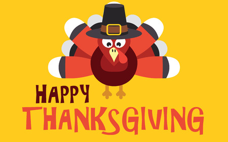 text background: Happy Thanksgiving with turkey