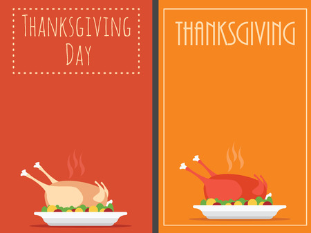 Thanksgiving Day backgrounds with turkey Vector