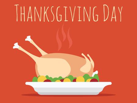 turkey day: Thanksgiving Day with turkey