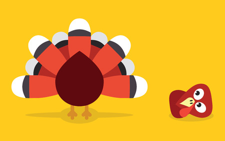 cut off head: Thanksgiving turkey with head cut off Illustration