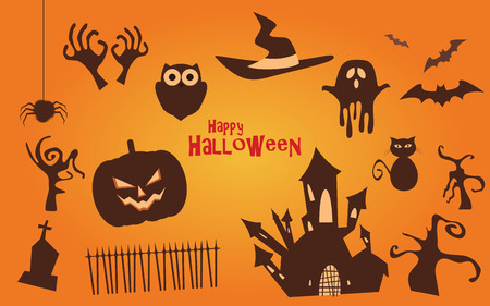 scary: Halloween vector icons set, scary collection