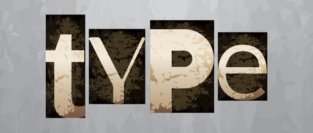 Vector type concept, retro vintage letterpress Vector